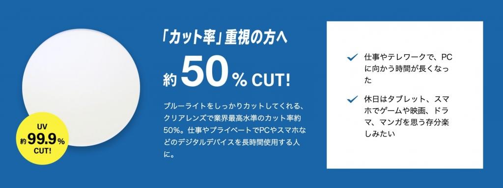 Zoffブルーライトカット50%