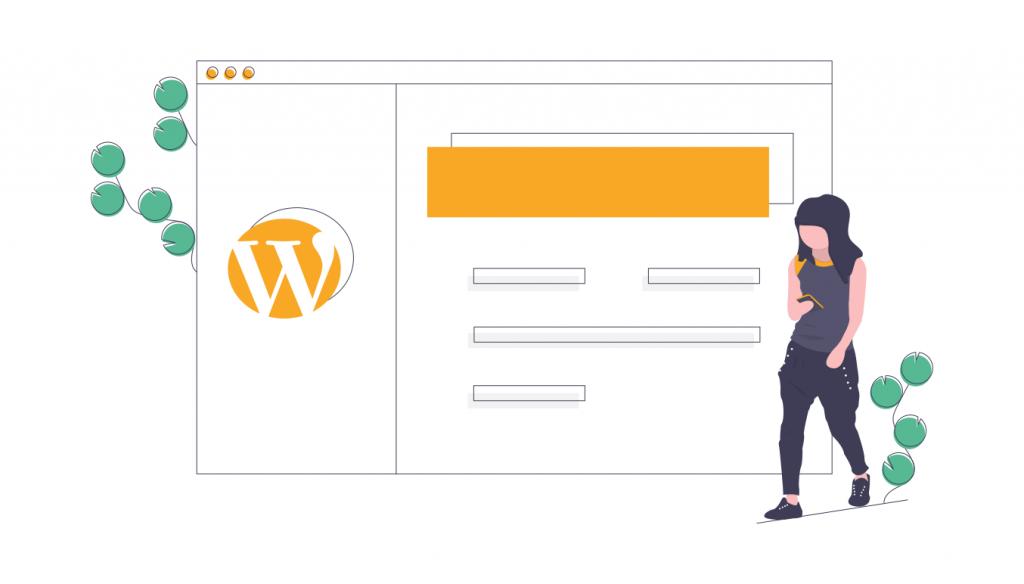 WordPressを開設する女性